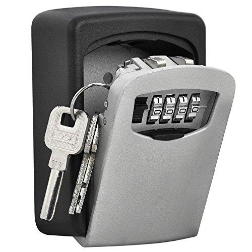 TRIXES Schlüsselsafe zur Wandmontage mit Nummernschloss