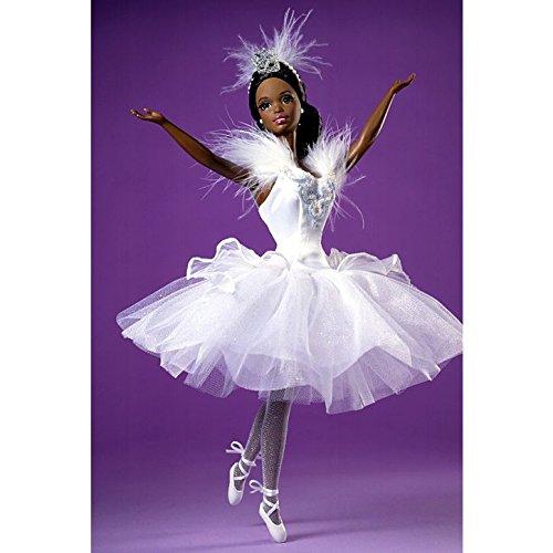 African American Barbie Doll As Swan Queen in Swan Lake Ballet by Mattel