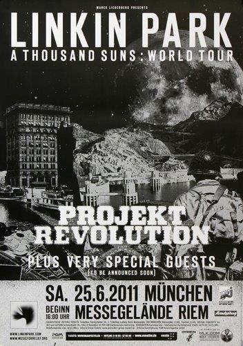 Linkin Park - World Tour, München 2011 » Konzertplakat/Premium Poster | Live Konzert Veranstaltung | DIN A1 «