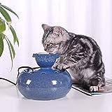 DX Katzenwasserbrunnen, 1,5 l Haustierbrunnen Automatischer Super Quiet Katzenwasserspender, Hundewasserbrunnen, Haustierwasserbrunnen für Katzen und Hunde, Blaue Hundewasserschale (Farbe: Blau