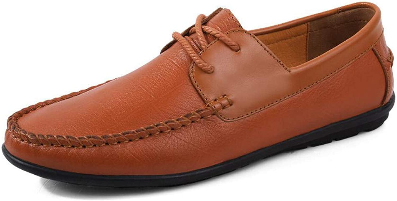 Men's shoes,2018 Spring Fall New Leathe shoes,Comfort Loafers & Slip-ONS,Tide Men's Casual shoes,Breathable Lace up Driving shoes