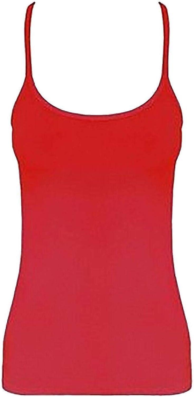 Rimi Hanger Girls Microfiber Sleeveless Strappy Vest Top Pack OF 6 Kids Plain Vest Top