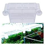 GUANGHEYUAN-J 1 PC Transparent Aquarium Flourish Bowl Máquina De Batalla Mini Incubadora De Inicio para Frying Aislamiento Reptil Reptiles Turtle Cage Home