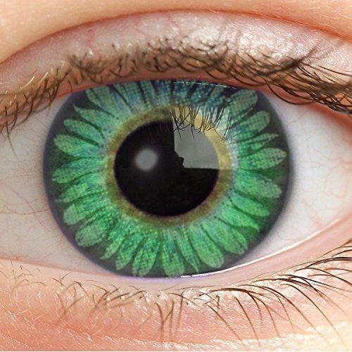 Farbige Kontaktlinsen Grün Ohne Stärke Weiche Grüne Jahreslinsen Farblinsen Linsen Natürlich 0 Dioptrien 14.5 mm - Deep Green ec-a50