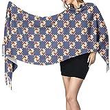 Bufanda de mantón Mujer Chales para, Diseño de patrones japoneses Moda para mujer Mantón largo Invierno Cálido Bufanda grande Bufanda de cachemira