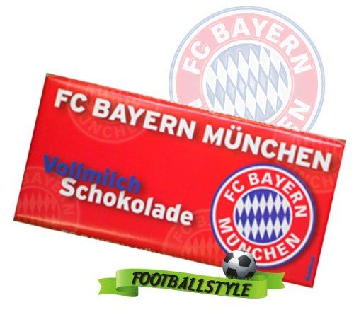 FC Bayern München Team Vollmilch Schokolade für echte Fans 100 g