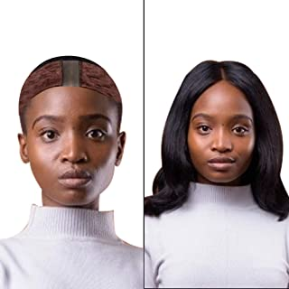 Qivange Wig Grip Comfort Velvet Wigripwith Lace,Flexible Wig Band to Prevent Headaches and Keep Wig Secured,WigGripBand for Women(Brown)