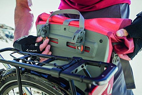 VAUDE Aqua Back Fahrrad Tasche – wasserdichte Gepäckträger Tasche im praktischen 2er Set – Fahrradtasche aus robustem & PVC-freiem Planenmaterial – Made in Germany - 5