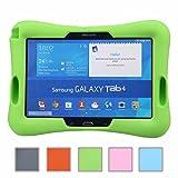 Newstyle Prueba de Golpes para Niños Super Ligero Cubierta de Protección Diseño de Amplificador con Entrada de Audio para Samsung Galaxy Tab 4 10.1 SM-T530 /T531 /T535 (Verde)