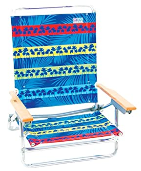 Rio 5 Position Lay Flat Classic Beach Chair