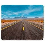 dealzEpic - Art Mousepad - Natural Rubber Mouse Pad Printed with Freeway/Highway Road in The Desert Landscape - Stitched Edges - 9.5x7.9 inches