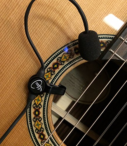 The Feather Gypsy Jazz Guitar Pickup with Flexible Micro-Gooseneck by Myers Pickups