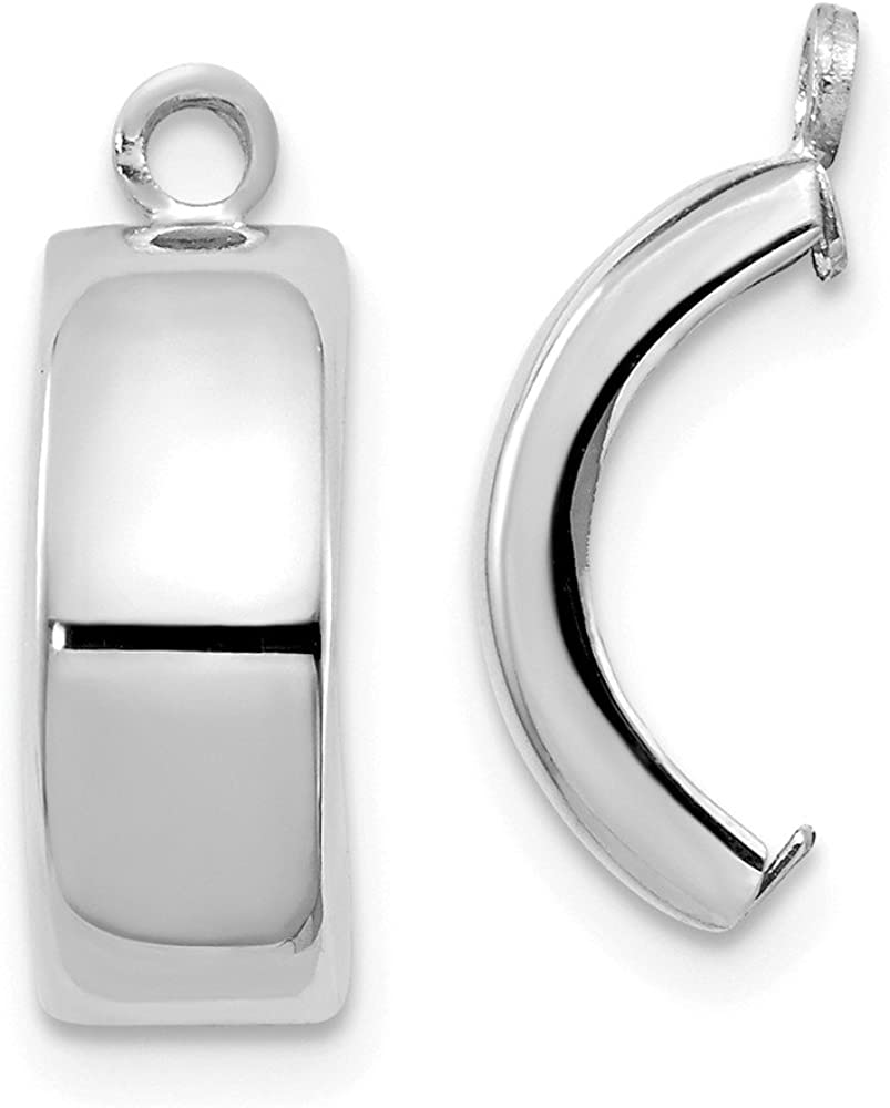 Jewels By Lux 14k White Gold Polished Earring Jackets