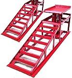D+L GmbH 55337 Rampas elevadoras para coche, 2 unidades, altura regulable, 2000 kg, plataforma elevadora AWZ
