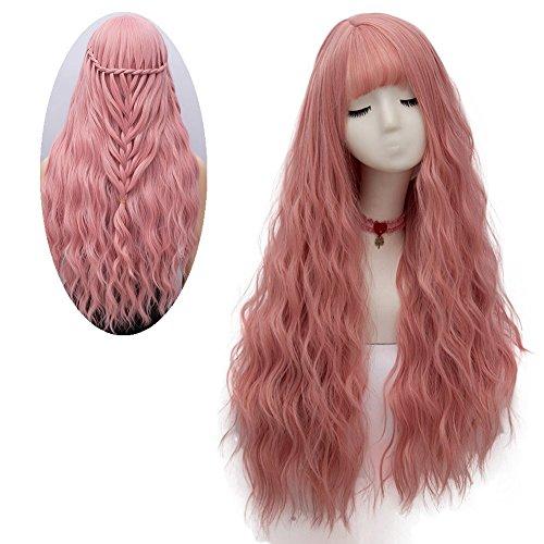 Netgo Women's Long Fluffy Loose Wave Hair Wig for Girls