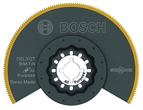 BOSCH OSL312T Starlock Oscillating Multi Tool Titanium Bi-Metal Segmented Saw Blade, 3-1/2