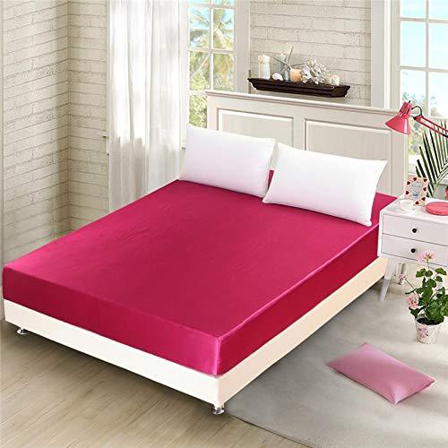 NTtie Protector de colchón de bambú Funda de colchón y Ajustable Protector de colchón de imitación de Seda