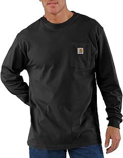 Men's Loose Fit Heavyweight Long-Sleeve Pocket T-Shirt