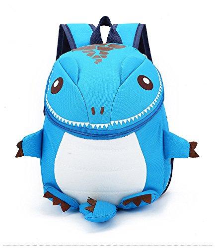 Dinosaur Backpack for Kids 2-8 Years, Toddler School Backpack, Lightweight Cute Cartoon Book Bag, Dinosaur Toys Bag for Children Waterproof Pre School & Pre-K (Blue)
