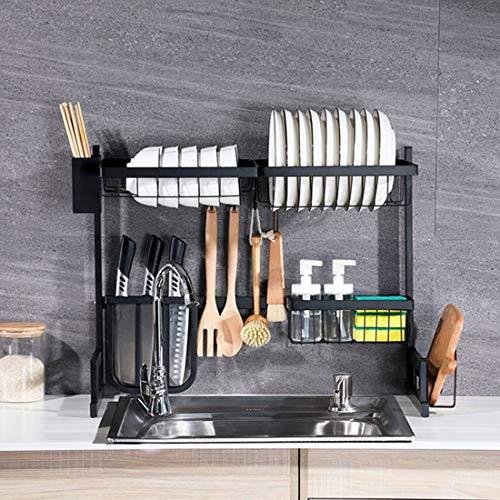 GODNECE Geschirrablage Küche, 65cm Geschirrständer Küche Spüle Abtropfgestell Edelstahl Abtropfständer Geschirr