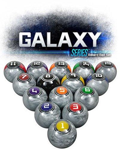 McDermott Galaxy Series - Bolas de billar profesionales para billar (textura plateada)