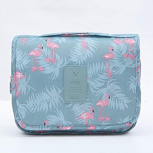 PLSUS Bolsas de cosméticos de Gran Capacidad-Hook Bag-Blue Flamingo