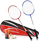 Player Badminton Racquets Set,Double Rackets Badminton Racket Set with Pair of Two Rackets,one