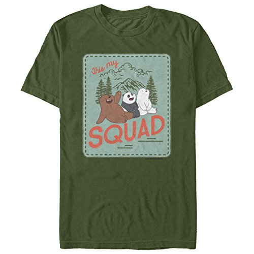 We Bare Bears Men's This My Squad Military Green T-Shirt