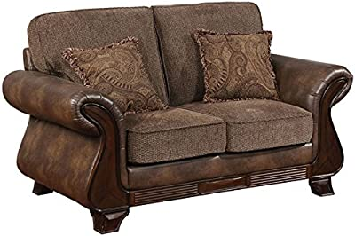 fd9ee9372a4a Amazon.com  Caldwell Velvet Sofa Silver and Chrome  Kitchen   Dining