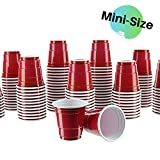Party Bargains Mini Red Disposable Shot Glasses | Plastic Shot Cups, Jello Shots, Perfect Size for Serving Condiments, Snacks, Samples and Tastings - 2oz | Pack of 120.