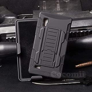 Cocomii Robot Armor LG Optimus L9 Case New [Heavy Duty] Premium Belt Clip Holster Kickstand Shockproof Hard Bumper [Military Defender] Full Body Dual Layer Rugged Cover for LG Optimus L9 (R.Black)