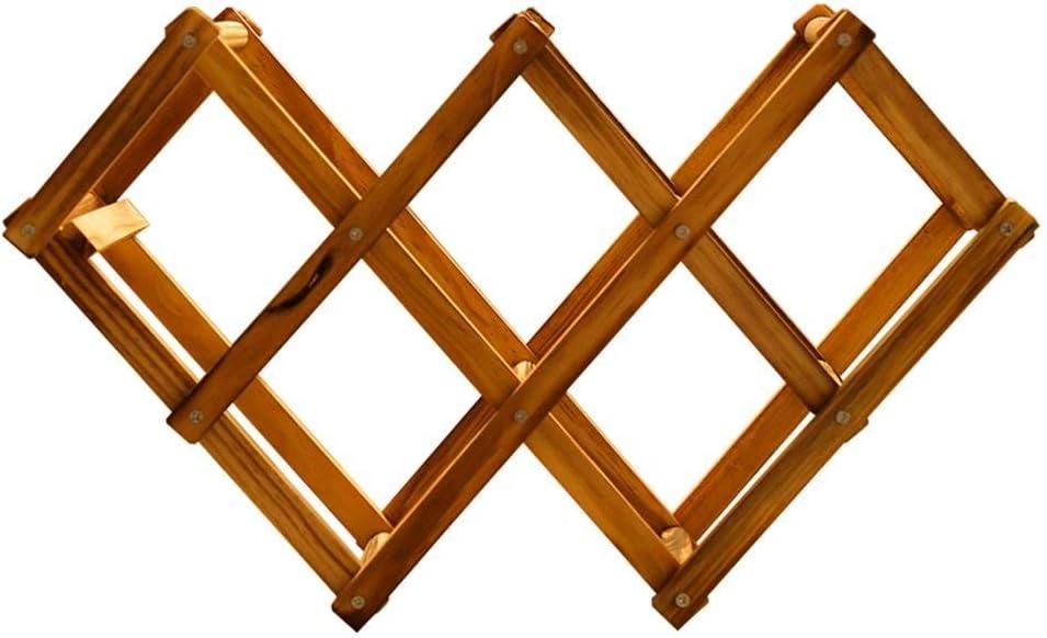 GAXQFEI Wine Rack Wooden Creative Tucson Mall Free Bottl High order Foldable 7 Standing
