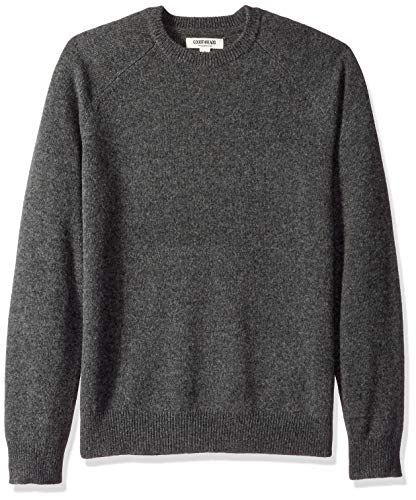 Amazon Brand - Goodthreads Men's Lambswool Stripe Crewneck Sweater, Charcoal, X-Large
