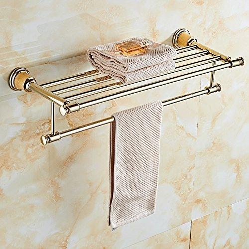 MBYW handdoek rek badkamer handdoekenrek Opslag plank Europese goud roestvrij staal handdoek rek badkamer jade handdoek rek pole badkamer rek hardware hanger set handdoek ring, tandenborstel houder - dubbele kop