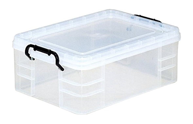 アンペア同級生のホスト和泉化成 収納コンテナ 日本製 セーフティBOX4型クリア (幅35.8×奥53×高18.7cm)