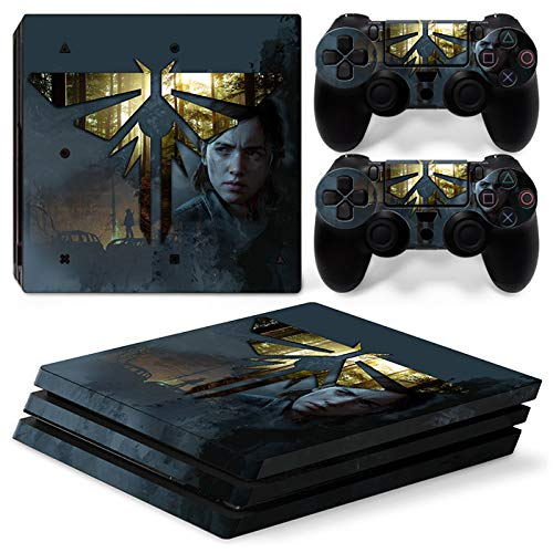 46 North Design Playstation 4 PS4 Pro Folie Skin Sticker Konsole L.O.U.S aus Vinyl-Folie Aufkleber Und 2 x Controller folie