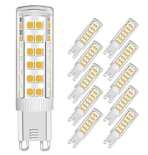 MENTA G9 Lampadina LED 7W (Equivalente a 60W Luce Bianco Caldo, Lampadine) Bagliore Romantico Temperatura 450Lm 3000K AC 220-240V Angolo del facio luminoso di 360 gradi CRI>80, Set da 10