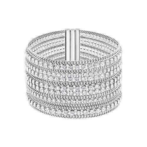 Swarovski Damen-Wickelarmbänder Edelstahl Kristall 5421826