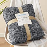 Throw Blankets for Couch Gifts for Mom Gifts for Women Gifts for Grandma Birthday Gifts for Her Soft Cozy Throw Blankets for Sofa Bed Warm and Lightweight Sherpa Throw Blanket(Gray, 50''x60'')