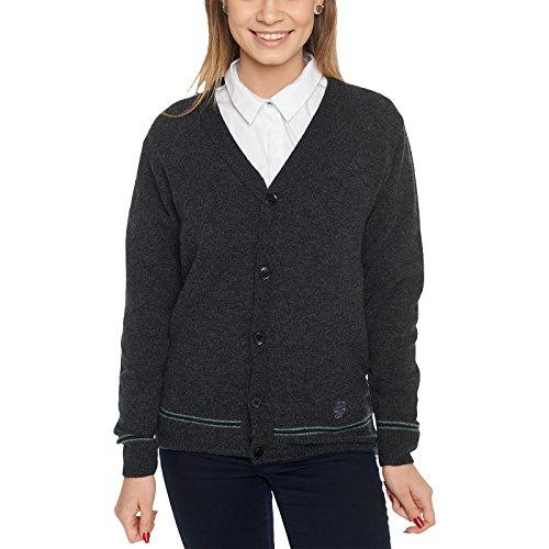 Harry Potter Slytherin Gilet uniforme Poudlard, laine d'agneau, Fabriqué en Écosse - noir - Large