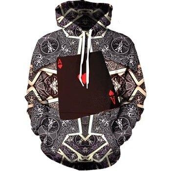 WEIYI 3D-Feder Game Boy Hoodie Sweatshirts Bedruckte Tasche auf der Vorderseite Tunnelzug Wintermantel Männer Frauen Tops Kleidung mit Kapuze, XXL