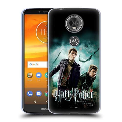 Head Case Designs Offizielle Harry Potter Fred und George Weasley Deathly Hallows VIII Soft Gel Huelle kompatibel mit Motorola Moto E5 Plus