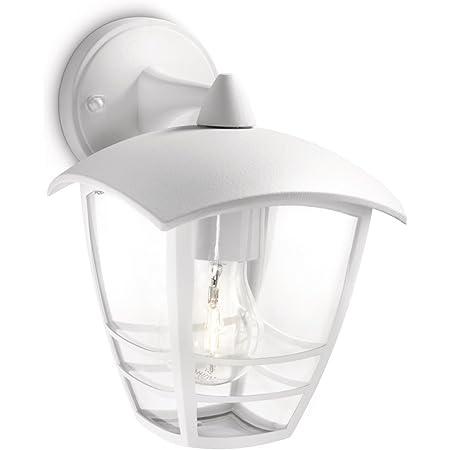 Philips 153813116 Creek Lanterne Murale Aluminium Blanc 1 x 60 W