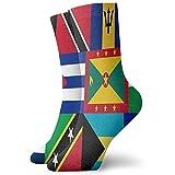 Gre Rry Karibik und Westindien Nationalflagge lässig athletische Socken Knöchel Strümpfe Sport Crew Socken