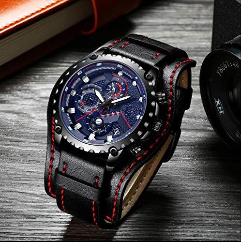 Voigoo Relogio Masculino Herrenluxus Geschäfts-Quarz-Uhr-Spitzenmarken-Luxuxmänner Military-Sport-Armbanduhr-Lederband Uhren