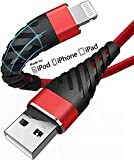 Short iPhone Charger Cable 6 inch[2 Pack], (2 Pack) CyvenSmart Lightning Cable Fast Charging Cord for iPhone 11/11 Pro/11 Pro Max/XS/XS Max/XR/X/8/8 Plus (6 inch, red)