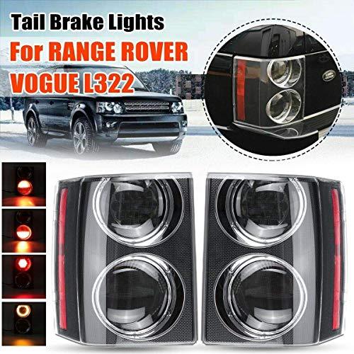 Rear Tail Brake Light Lamp Fits For Land Rover Range Rover HSE VOGUE L322 2002-2009 2PCS (Len Color:Black)