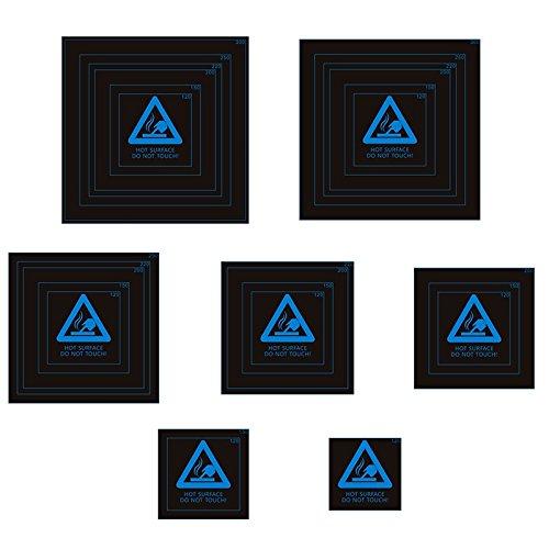 ILS - 310x310x0.5mm Blu Frosted riscaldata Sticker Bed Costruire piastra Tape 1: 1 con struttura filo per stampante 3D