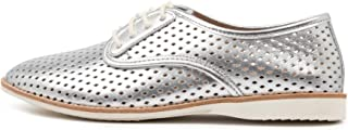 ROLLIE Derby Punch X Silver Silver Womens Shoes Flats Shoes