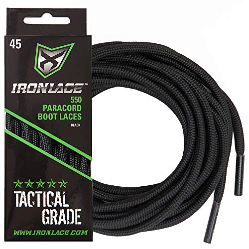 Ironlace Paracord, Midnight Black, 63'